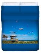 Big Kites Delray Beach Duvet Cover