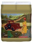 Big Mama Red Truck Duvet Cover
