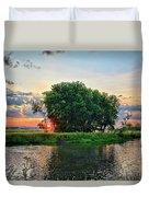 Big Marsh Sun Duvet Cover