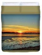 Big Marsh Sunset 2 Duvet Cover