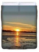 Big Marsh Sunset 4 Duvet Cover