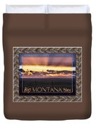 Big Montana Sky Duvet Cover