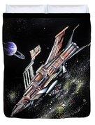 Big, Old Space Shuttle Of Dead Civilization Duvet Cover