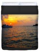 Big Pass Sunset Sarasota Florida Duvet Cover