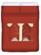 Big Red Doors Duvet Cover