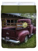 Big Red Ford Truck Duvet Cover