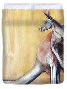 Big Red  Kangaroo Duvet Cover