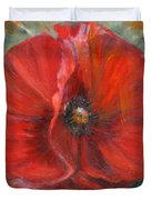 Big Red Poppy Duvet Cover