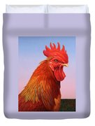 Big Red Rooster Duvet Cover