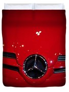 Big Red Smile - Mercedes-benz S L R Mclaren Duvet Cover
