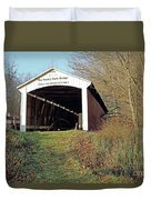 Big Rocky Fork Bridge Indiana Duvet Cover