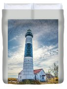 Big Sable Light On Lake Michigan Duvet Cover