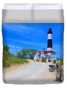 Big Sable Point Lighthouse Duvet Cover