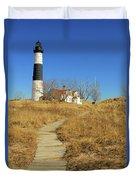 Big Sable Point Lighthouse Duvet Cover