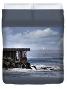 Big Sea Small Boat Duvet Cover
