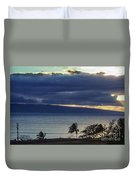 Over Molokai Duvet Cover