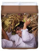 Big Smile From Bali Duvet Cover