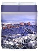 Big Snow In The Alhambra Granada  Duvet Cover