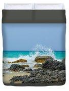Big Splash On Rocks Of Playa Brava Duvet Cover