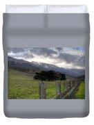 Big Sur Fence Line Duvet Cover