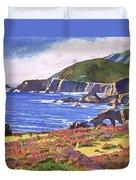 Big Sur Wildflowers - Plein Air Duvet Cover