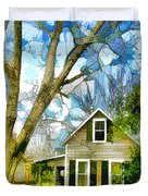 Big Tree Standing Tall In The Front Yard Duvet Cover