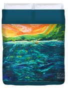 Big Tropical Wave Duvet Cover