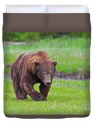 Big Ugly Grizzly Boar Claws Duvet Cover