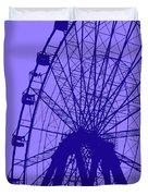 Big Wheel Blue Duvet Cover