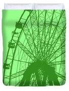 Big Wheel Green Duvet Cover