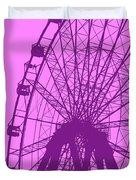 Big Wheel Purple Duvet Cover