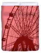 Big Wheel Red Duvet Cover