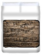Big Whiskey Fire Arm Sign Duvet Cover