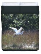Big White Bird Flying Away Duvet Cover