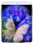 Big White Butterfly Duvet Cover