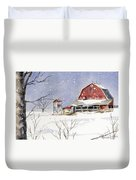 Big White Horse Duvet Cover