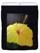 Big Yellow Hibiscus Duvet Cover