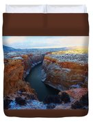 Bighorn Canyon In Winter Duvet Cover