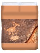 Bighorn Petroglyph Duvet Cover