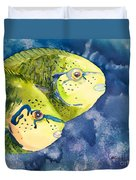 Bignose Unicornfish Duvet Cover