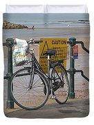 Bike Against Railings Duvet Cover