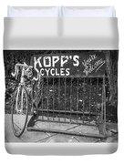 Bike At Kopp's Cycles Shop In Princeton Duvet Cover