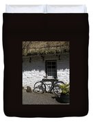 Bike At The Window County Clare Ireland Duvet Cover