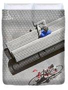 Bike Break Duvet Cover