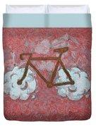 Bike-cloud Red - Da Duvet Cover