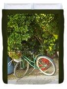 Bike In Maupiti Duvet Cover
