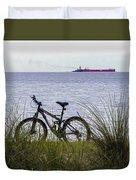 Bike On The Bay Duvet Cover