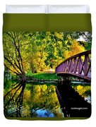 Bike Path Bridge Duvet Cover