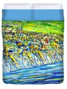 Bike Race Duvet Cover