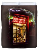 Bike Shop Window Duvet Cover